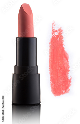 Canvastavla Color lipstick with smudged stroke isolated