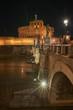 Rome, Castel Sant'Angelo, Tiber river at night