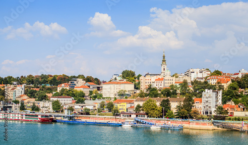 Poster Centraal Europa Panoramic View Of Belgrade Serbia