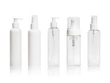 Set Of Blank Cosmetic Bottles ...