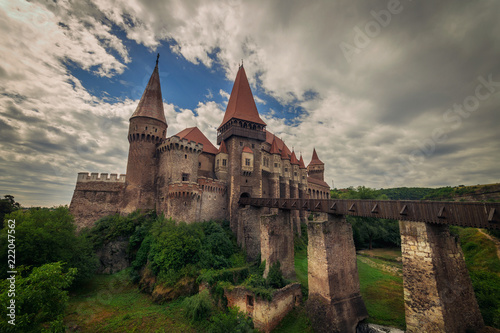 Tuinposter Kasteel Castle against cloudy sky