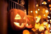 Halloween Pumpkins At Home On ...