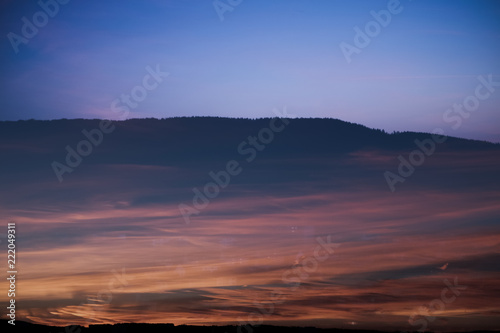 Photo sur Aluminium Fantastique Paysage Evening Sky with Sunny Flames and gradients