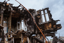 The Old Wooden Burned-down Hou...
