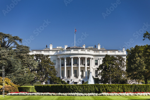 The White House 1600 Pennsylvania Ave home of the President of the United States Canvas Print