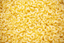 Close Up Of Italian Macaroni Pasta Food Background