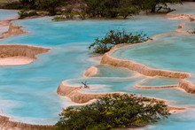 Colorful Blue Pools Of Water I...