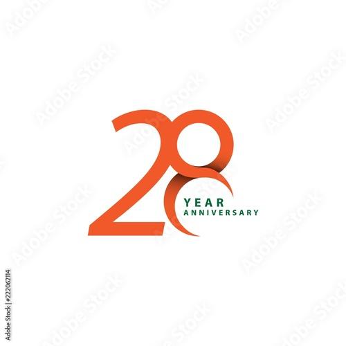 Papel de parede  28 Year Anniversary Vector Template Design Illustration