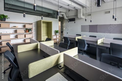 Staande foto Industrial geb. Stylish office in loft style with gray walls