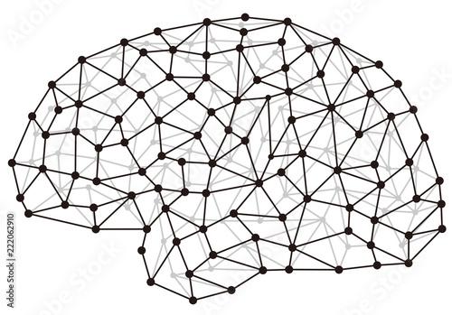 頭脳とネットワークイメージ Billede på lærred