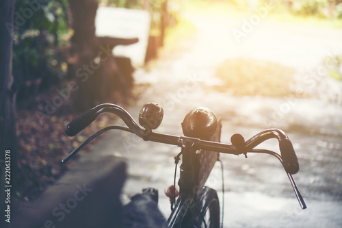 old vintage bicycle, vintage filter image