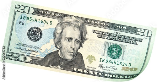 Photo  20 Dollars Bill - Isolated