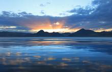 Sun Set Reflection In Bonnevil...