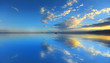 Cloud reflection on Bonneville Salt flats