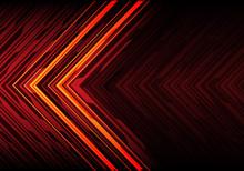 Abstract Orange Light Black Li...