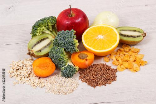 Fototapeta Healthy food as source vitamin PP and B3, dietary fiber and natural minerals obraz