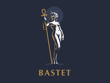 Egyptian Goddess Bastet. Vecto...