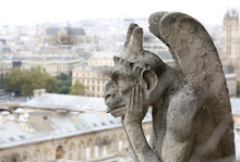 Thinking Figure Called Chimera Or Grotesque In Paris From Bell T