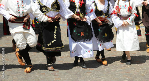 Photo sur Toile Europe de l Est many children dancing with european clothes