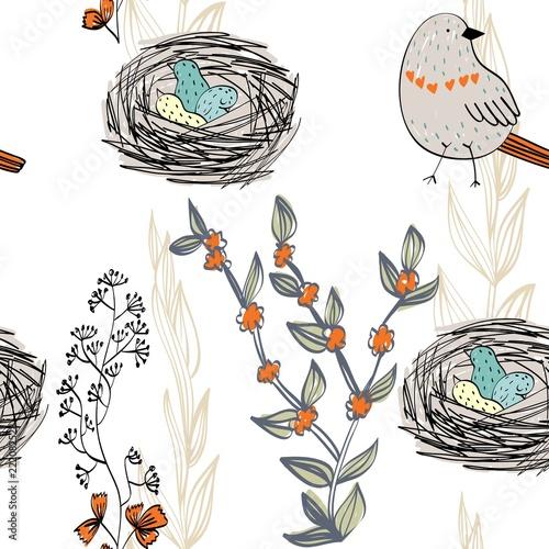 wektorowy-bezszwowy-wzor-z-reka-rysujacymi-ptakami-i-gniazdeczkami