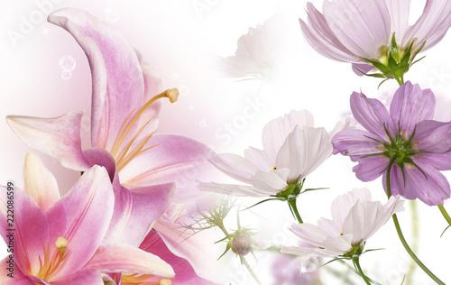 Naklejki na szafę piekne-kwiaty