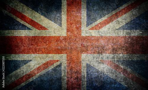 Fotografie, Obraz Old grunge England flag