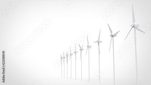 風力発電 複数 左コピースペース Adobe Stock でこのストックイラスト