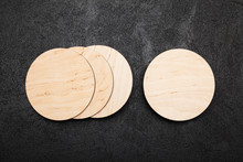 Isolated Beer Coaster Mockup, ...
