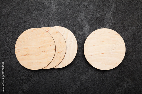 Isolated beer coaster mockup, round drink holder.