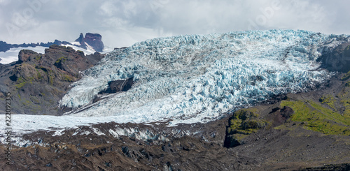 Vatnajokull glacier from a glacier blue ice tour, Iceland