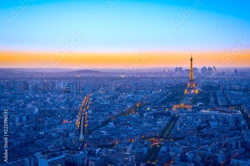 Printed kitchen splashbacks Eiffel Tower Aerial View of Paris