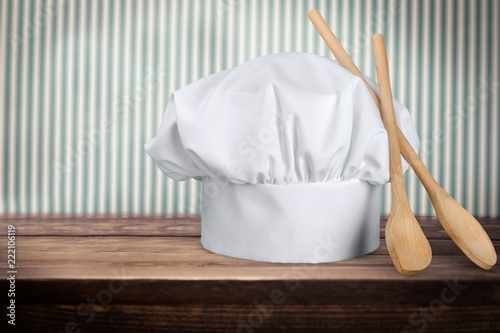 Chef Hat with Wooden Spoons Canvas Print