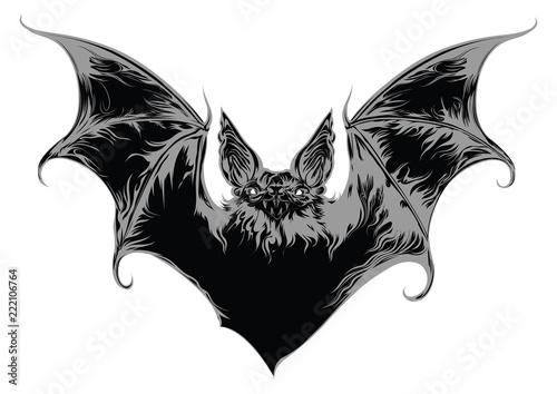 Canvas Print Ghost bat vector illustration