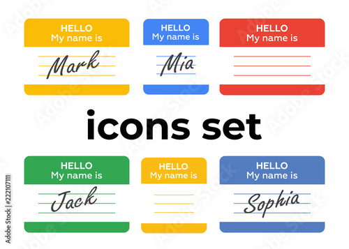 Vector icons set Canvas Print