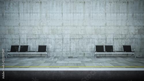 underground hall with seats