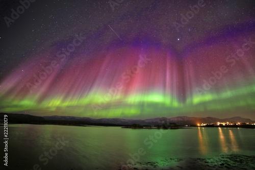 Fotobehang Crimson Aurora polaris