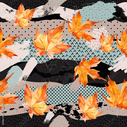 Photo sur Toile Empreintes Graphiques Abstract and natural elements background for fall design.