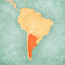 Map Of South America - Argentina