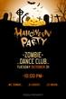 Leinwandbild Motiv Halloween Zombie Party Poster