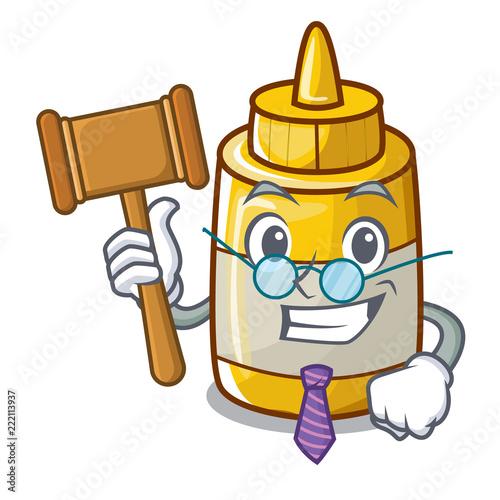 Fotografia, Obraz  Judge homemade mustard sauce in cartoon bottle