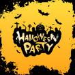 Leinwandbild Motiv Grungy Halloween Party Poster