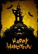 Leinwandbild Motiv Halloween Greeting Card