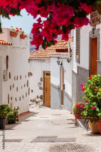 Fototapety, obrazy: Street in Fataga, Gran Canaria,