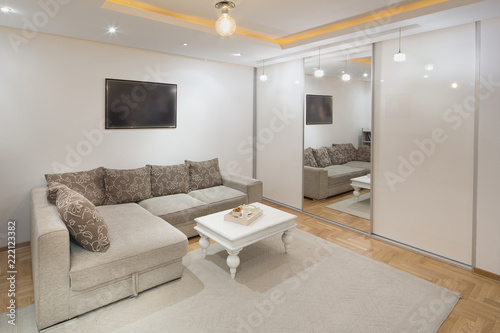 Cousy living room with siting area.interior Wallpaper Mural