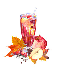Autumn Hot Beverage With Apple...