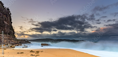 Poster Maroc Sunrise Seascape with Clouds