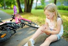 Cute Little Girl Sitting On Th...