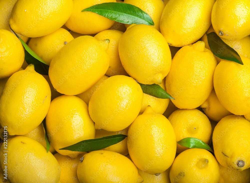 Fototapeta Fresh yellow lemon
