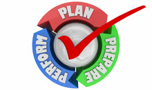 Plan Prepare Perform Practice Ready For Success Cycle 3d Illustration