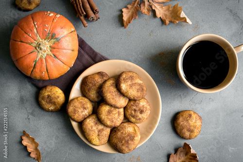 Fotobehang Koekjes Pumpkin Snickerdoodle Cookies